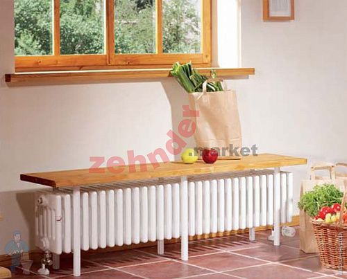 Радиатор-скамейка Zehnder Charleston Bench CB6026-35 N1270 RAL 9016
