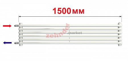 Радиатор Zehnder Charleston Turned T3150/6 N1280 RAL 9016